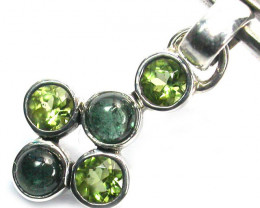 GEMSTONES PENDANT DIRECT FROM FACTORY SILVER 9.00CTS SJ1190