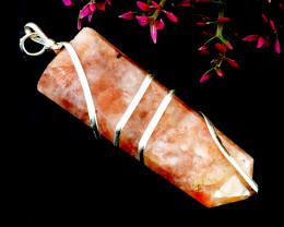Sunstone Healing Wand Pendant