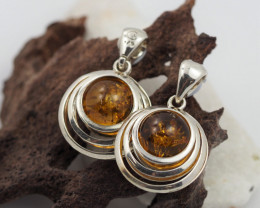 Baltic Amber Sale, Silver Earring  , direct from Poland  AM 566