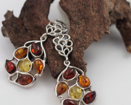 Baltic Amber Sale, Silver Earring  , direct from Poland  AM 567