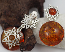 Baltic Amber Sale, Silver Earring  , direct from Poland  AM 568