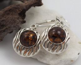 Baltic Amber Sale, Silver Earring  , direct from Poland  AM 569