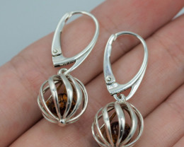 Baltic Amber Sale, Silver Earring  , direct from Poland  AM 570