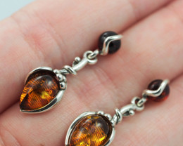 Baltic Amber Sale, Silver Earring  , direct from Poland  AM 571