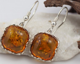 Baltic Amber Sale, Silver Earring  , direct from Poland  AM 572