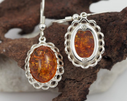 Baltic Amber Sale, Silver Earring  , direct from Poland  AM 574
