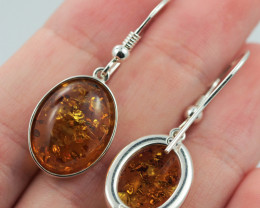 Baltic Amber Sale, Silver Earring  , direct from Poland  AM 576