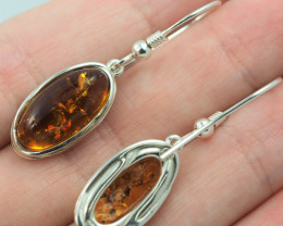 Baltic Amber Sale, Silver Earring  , direct from Poland  AM 577
