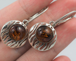 Baltic Amber Sale, Silver Earring  , direct from Poland  AM 578