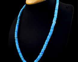 Genuine 181.00 Blue Opal Beads Necklace