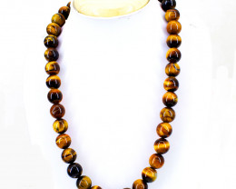 Round Beads Golden Tiger Eye  Necklace