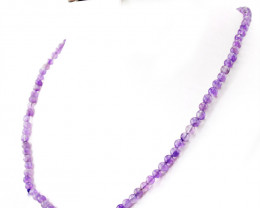 Purple Amethyst Round Beads Necklace