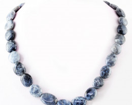 Genuine 418.08 Cts Dendrite Opal Beads Necklace