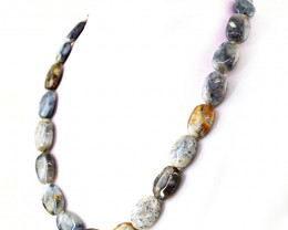 Dendrite Opal Oval Shape Beads Necklace