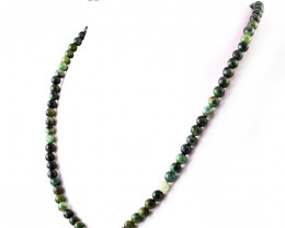 Genuine 181.00 Cts Untreated Emerald Round Beads Necklace