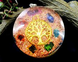 Orgone Seven Chakra Pendant
