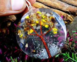 Mix Gem Orgone Tree Pendant