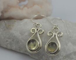 Citrine earrings sheppard hook   AM580