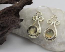 Citrine earrings sheppard hook   AM581