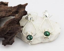 Malachite earrings sheppard hook   AM582