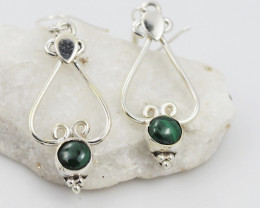 Malachite earrings sheppard hook   AM583