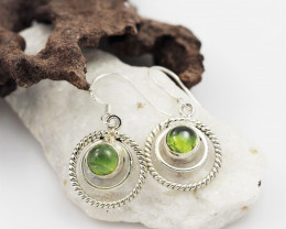 Peridot earrings sheppard hook   AM584