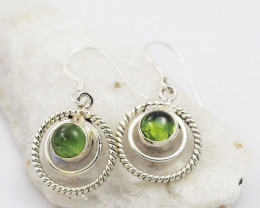 Peridot earrings sheppard hook   AM586