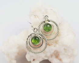 Peridot earrings sheppard hook   AM587