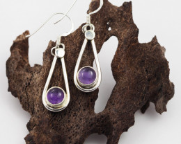Amethyst earrings sheppard hook   AM589