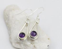 Amethyst earrings sheppard hook   AM590
