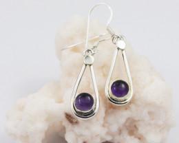 Amethyst earrings sheppard hook   AM591