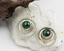 Malachite earrings sheppard hook   AM592