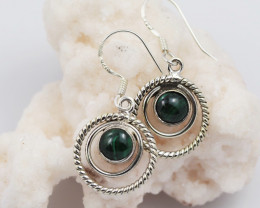 Malachite earrings sheppard hook   AM593