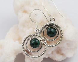 Malachite earrings sheppard hook   AM593