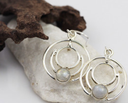 Moonstone earrings sheppard hook   AM597