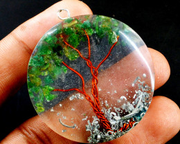 Green Jade Orgone Tree Pendant