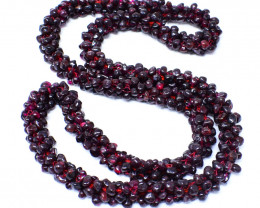 Red Garnet 24 Inches Long Necklace