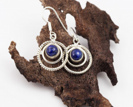 Lapis Lazuli earrings sheppard hook   AM599