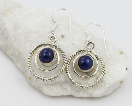 Lapis Lazuli earrings sheppard hook   AM600