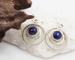 Lapis Lazuli earrings sheppard hook   AM601