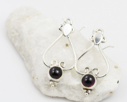 Garnet earrings sheppard hook   AM602