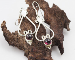 Garnet earrings sheppard hook   AM603