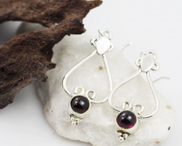Garnet earrings sheppard hook   AM605