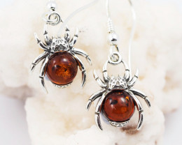 Baltic Amber Sale, Silver Earring  , direct from Poland  AM 606