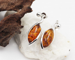 Baltic Amber Sale, Silver Earring  , direct from Poland  AM 607