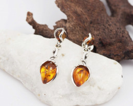 Baltic Amber Sale, Silver Earring  , direct from Poland  AM 611