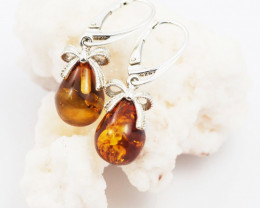 Baltic Amber Sale, Silver Earring  , direct from Poland  AM 612