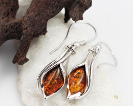 Baltic Amber Sale, Silver Earring  , direct from Poland  AM 613