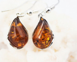 Baltic Amber Sale, Silver Earring  , direct from Poland  AM 615