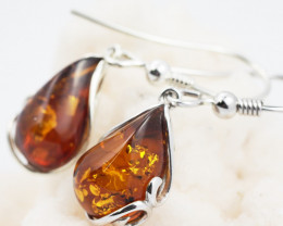 Baltic Amber Sale, Silver Earring  , direct from Poland  AM 616